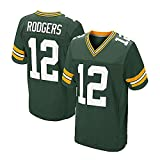 RENDONG NFL Aaron Rodgers Green Bay Packers Football Jersey Fan Edition Fútbol Ropa Deportiva Camiseta Manga Corta,12green,XL