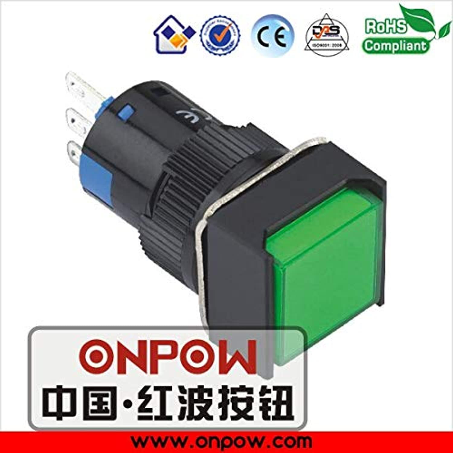 16mm Plastic 1NO1NC Square Head momentary Illuminated pushbutton Switch LAS1AF11 G 12V  (color  bluee)