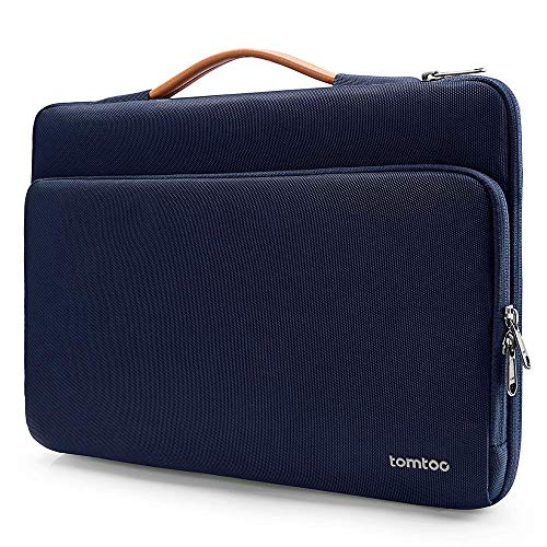 tomtoc Laptop Sleeve designed for 12.3' Surface Pro, 13' New MacBook Air A1932 A2179 Touch ID, MacBook Pro 13' New A2159 A1989 A1706 A1708, XPS 13, Briefcase with Accessory Bag, Blue