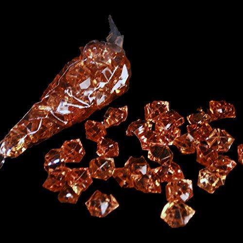 3 x Pierres/acrylsteine (ambre) : env. 25 x 20 mm/pierre/32 pierres par sachet
