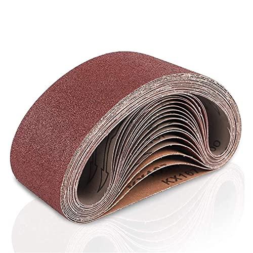 Coceca Cinta de lijado de 75 x 533 mm (75 x 533 mm), paquete de 18 cintas de lijado de óxido de aluminio (3 cada uno de 60 80 120 180...