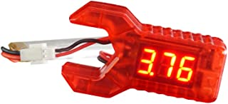 ARRIS 1S Lipo Battery Voltage Tester Checker Low Voltage Voltmeter LED Digital Display for Indoor FPV Quadcopter RC Drone Like Blade Inductrix Tiny Whoop etc (Red)