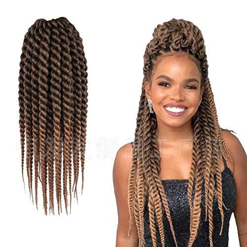 HXIAOQ 3Boîte 18 inch Synthetic Crochet Braids Meches Les Sénégalais Twist De Tresses en Crochet pour Cheveux