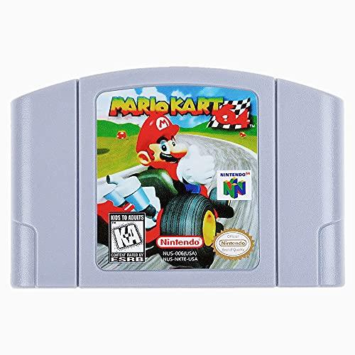 Game Cartridge for Nintendo 64  Mario Kart High Definition Game Cartridge Card Compatible for Nintendo 64  Fond memories of childhood Good collectibles  US Version