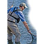 """Hammerhead industries gear keeper net retractors – features various mounting options with qc-ii split ring accessory… 9 essential: best way to carry your net…grab your net, use it, let it go… it retracts back everytime! When fishing, our 42"""" extension and 12oz retraction force provides full arms reach and gentle retraction force. Retractable tether, prevent loss: no more fumbling with magnetic latches or lost nets. Net hangs basket down within easy reach to grab and extend. If a fish runs and you need your hands, simply release the net and it retracts out of the way. Ultimate mounting: hook and loop strap mount is very versatile easily attaches to a pack or wader strap, belt or any bar, d-ring or strap in a kayak."""