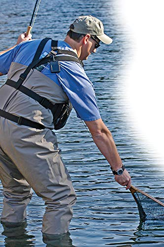 """Hammerhead industries gear keeper net retractors – features various mounting options with qc-ii split ring accessory… 3 essential: best way to carry your net…grab your net, use it, let it go… it retracts back everytime! When fishing, our 42"""" extension and 12oz retraction force provides full arms reach and gentle retraction force. Retractable tether, prevent loss: no more fumbling with magnetic latches or lost nets. Net hangs basket down within easy reach to grab and extend. If a fish runs and you need your hands, simply release the net and it retracts out of the way. Ultimate mounting: hook and loop strap mount is very versatile easily attaches to a pack or wader strap, belt or any bar, d-ring or strap in a kayak."""