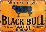 NOT Willshers Black Bull Scotch Whiskey Interessante Poster
