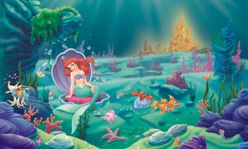 RoomMates Disney Princes - The Littlest Mermaid Removable Wall Mural - 10.5 feet X 6 feet