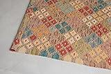 THE KNOTS Shazahir Kilim #28 - Alfombra de kilim hecha a mano, 100% lana virgen, 199 x 77 cm, color verde