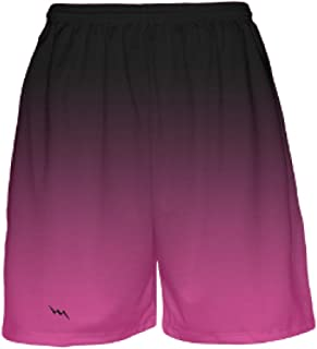 Black to Pink Fade Basketball Shorts by Lightning Wear - Mens Basketball Shorts- Youth Basketball Shorts
