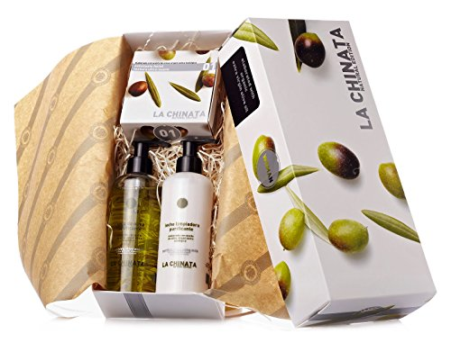 La Chinata Coffret cadeau Mini (Baume à lèvres 10g + Exfoliant visage 70ml + Crème contour des yeux 20ml + Sérum visage anti-pollution 30ml)