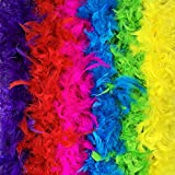 Best Feather Boas - Feather Boa Set of 6 Vibrant Colors Mardi Review