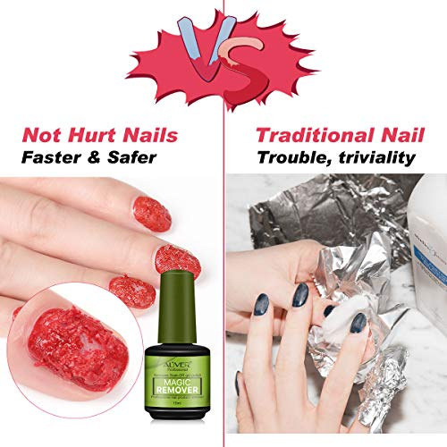 Magic Nail Polish Remover,Professional Removes Soak-Off Gel Nail Polish In 3-5 Minutes,Quickly & Easily,Don't Hurt Your Nails - 15 ml