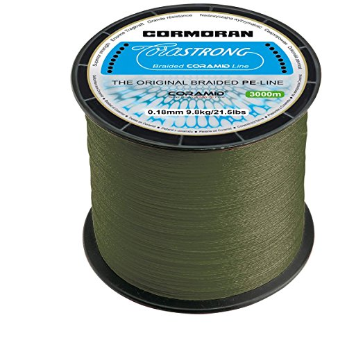 Cormoran geflochten Schnur Corastrong grün 3000m Großspule 0.14 mm