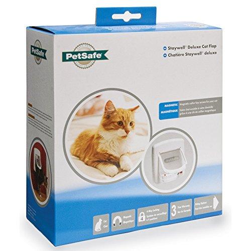 PetSafe Staywell Deluxe Magnetische Katzen Klappe (Einheitsgröße) (Weiß)