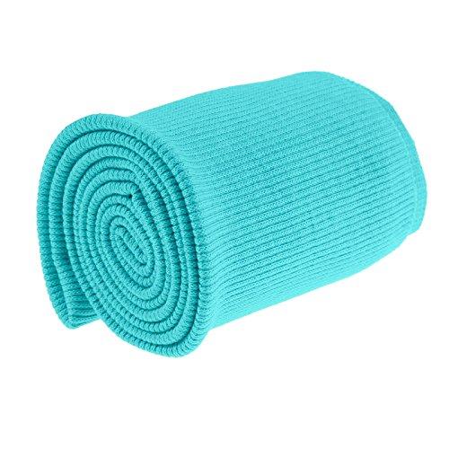 maDDma 16x80cm Bündchen Strickbündchen Bündchenstoff Baumwolle elastisch gerippt, Farbwahl, Farbe:türkis