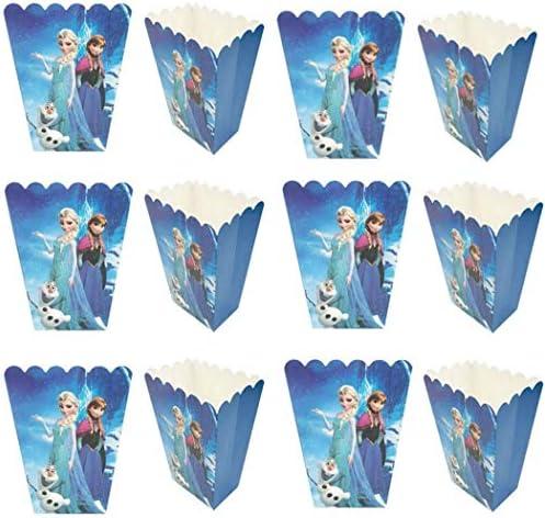 24 Pcs Frozen Princess Party Popcorn Boxes Frozen Princess Party Supplies Favors Candy Container product image