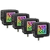 Nicoko 3 Inch 18w RGB led Works Light Offroad Lights...