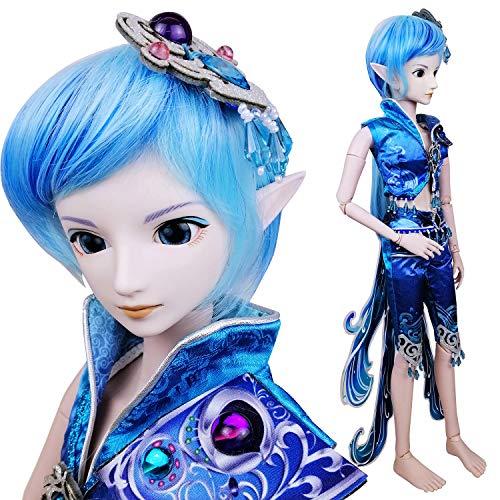 EVA BJD Wasser Prinz Poseidon 1/3 BJD Puppe Full Set 24 Zoll 19 Kugelgelenk Puppen Elf Ohren + Kleidung + Free Make-up + Haar + Zubehör