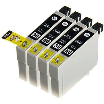 エプソン ICBK50 (ブラック) 黒4個セット 互換インク