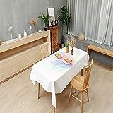 LIUJIU Abwaschbar Tischdecke Eckig Wasserdicht Stoff Tischtuch Tischwäsche Pflegeleicht Garten Zimmer Tischdekoration,100X140cm