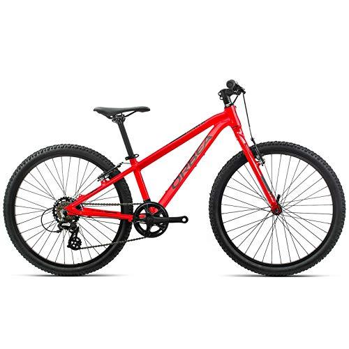 Orbea MX 24 Dirt K011 - Bicicleta de montaña para niños, 7 velocidades, 32,9 mm, 24', Color Rojo y Negro