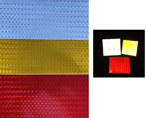 3 stuks. A4 206x297mm reflectoren stickers materiaal - per meter om zelf vorm te geven & te knutselen & bedrukken van veiligheidsstickers (kleur naar keuze) 206x297mm 3x Weiß-Silber