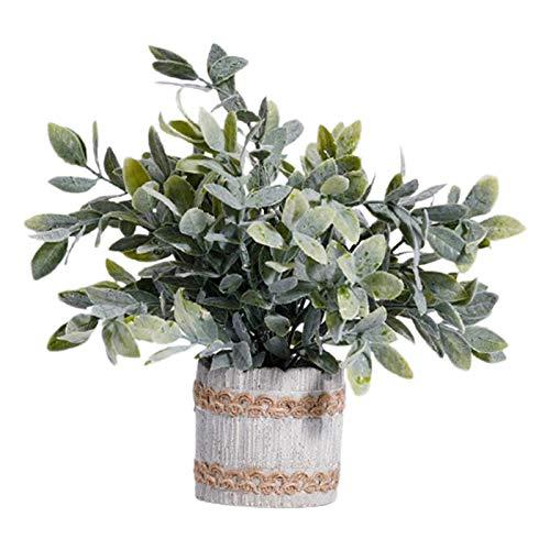 MagiDeal Plantas Artificiales en macetas-Falso Verde en macetas pequeñas Plantas para el hogar Interior Hpme Oficina Granja Decoración de Mesa - 12x21CM
