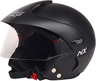 Sepia NX Rider Open Face Helmet with Peak (Matt Black, M)