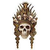 Design Toscano CL6817 Balinese Deity of the Afterlife Skull Mask Wall Sculpture, 2 Foot, F...