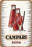 Campari Soda Targa in metallo vintage retro targa ferro pittura avviso avviso retro poster cafe bar film