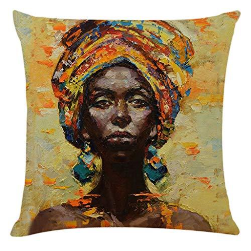 Home Decor Cushion Cover African Women Pillowcase Throw Pillow Covers Home & Garden Pillow Case