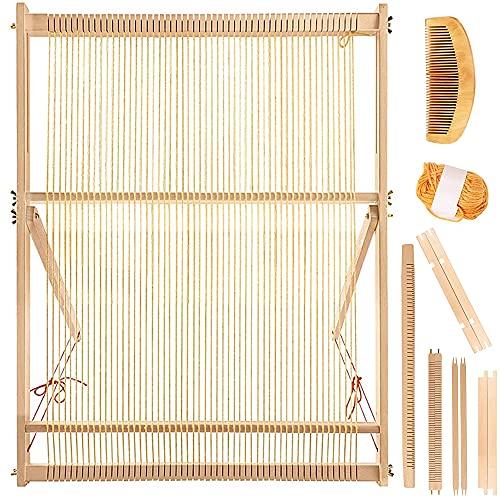 IWILCS Telaio per Tessitura Legno Set, Kit di Telaio per Tessitura, Multi-Craft Telaio, Kit di Telaio per Tessitura, Adatto a Principianti, Bambini, Adulti e Bambini