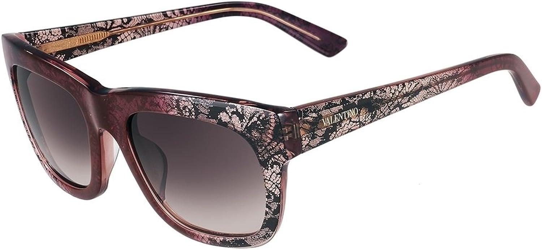 Women's Square Translucent Bordeaux Sunglasses