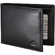 Motion Trend Men's RFID Wallet - Genuine Leather RFID Blocking Bifold Wallet, Black, Slim Style