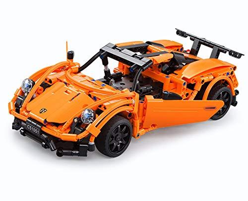 Bloques de construcción creativos coche deportivo,Gránulos de 421 bloques,juguetes de bricolaje niños adultos Regalo modelo 3D Bloques de construcción creativos. 1051,421pcs