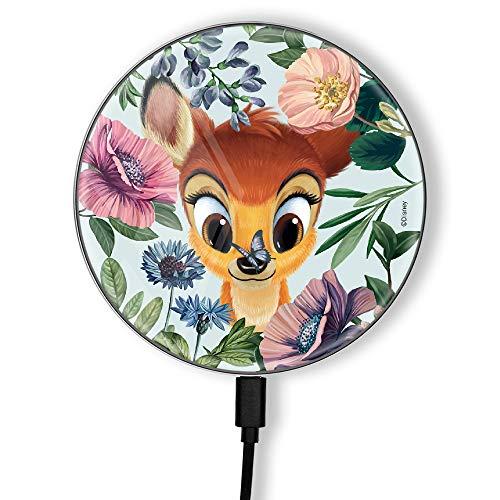 Cargador inductivo Original y Oficial de Bambi para teléfono o Tableta, estación de Carga, Carga inalámbrica, impresión, USB, 2 A, 10 W