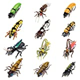 YZD Fly Fishing Flies Trout Lure kit Dry Wet Fly-Fishing Flies Realistic Flies Bug Set of 12 Flies Terrestrial Bumble Wasp Grasshopper Stone Flies Assortment Mayfly Stonefly