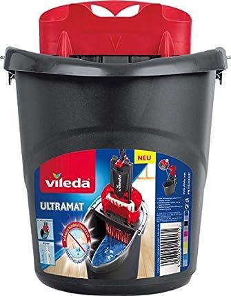 Vileda 10917 Ultramat - Cubo de fregar con escurridor PowerPress