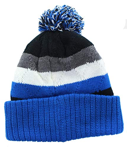 Concept One Sega Sonic The Hedgehog Men's Cuffed Beanie Knit Hat Pom, Blue, One Size