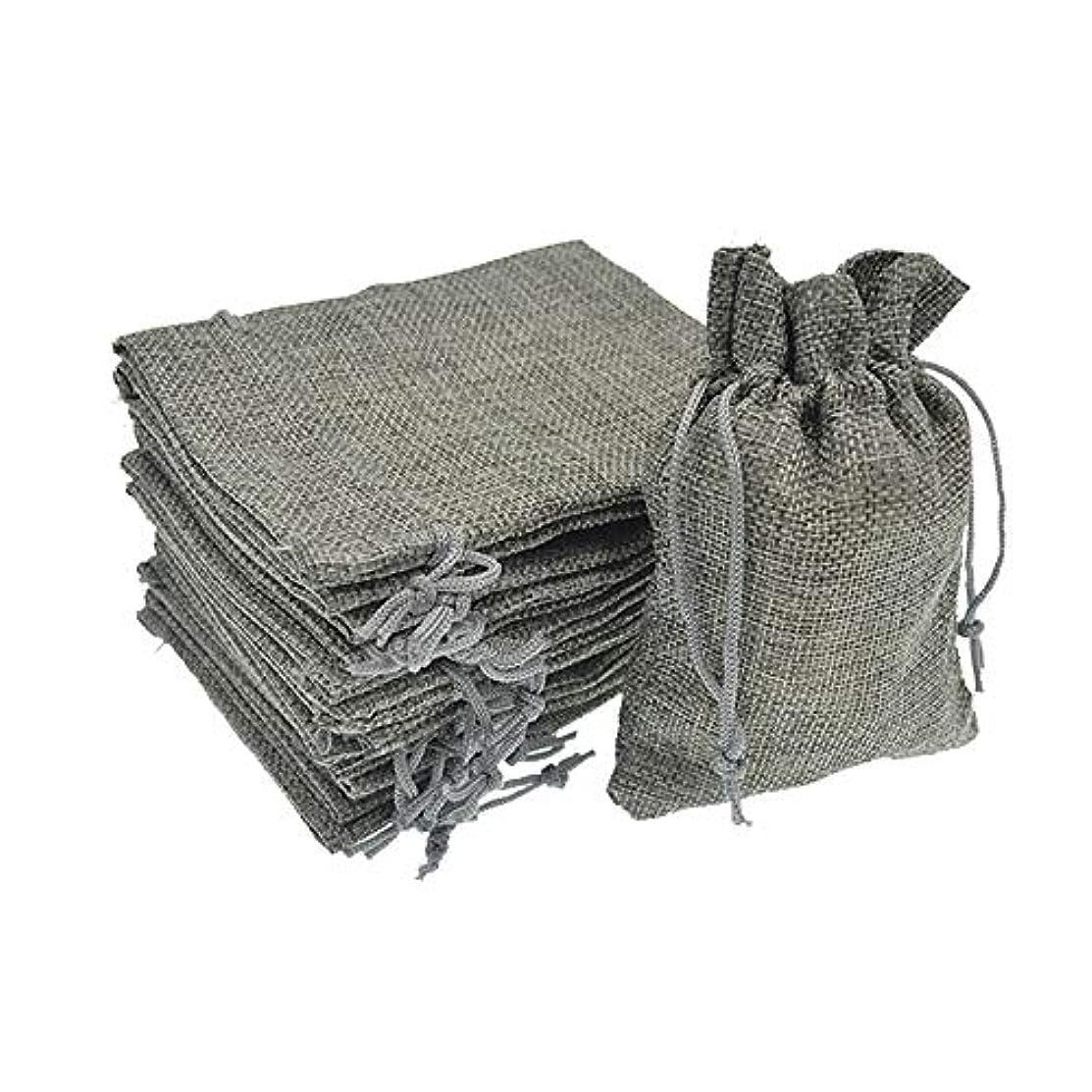 Bezall? 20pcs Drawstring Burlap Jute Sacks Jewelry Candy Pouch Christmas Wedding Party Favor Gift Bags (Gray, 2.7 x 3.5