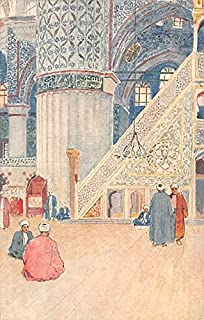 Interior of the Mosque of Sultan Ahmed I Constantinople Turkey Postcard