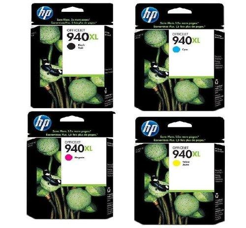 8 Original XL Druckerpatronen für HP Officejet pro 8500A plus (Black/Cyan/Yellow/Magenta) Tintenpatronen