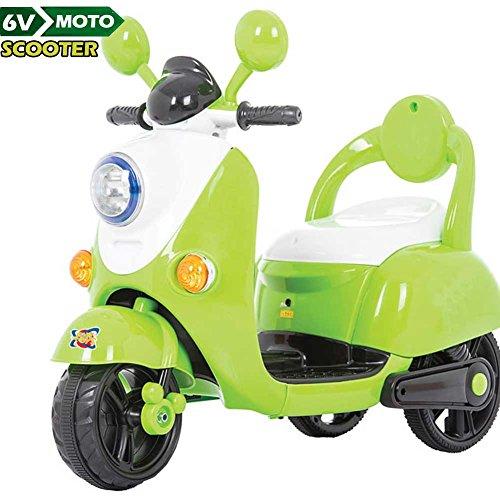 BAKAJI Moto Scooter Elettrico Ricaricabile Vespina Vintage per Bambini 6V Colore Verde
