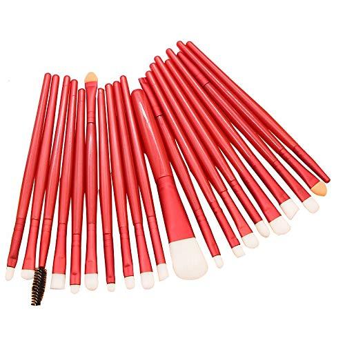 Makeup Brushes ZHIYE Make up Brush Set 20 PCs Professional Face Eyeliner for Foundation Blush Concealer Eyeshadow Red