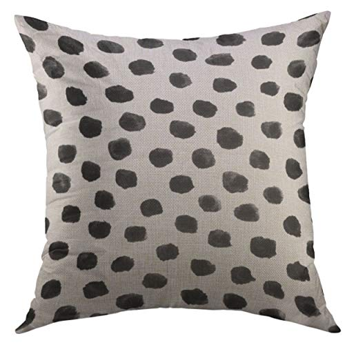 Funda de almohada decorativa para sofá, cama, decoración del hogar, diseño de lunares, monograma dálmata, moderno con monograma de lunares, funda de almohada de 45,7 x 45,7 cm