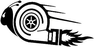 interjunzhan Fashion Cool Decal Reflective Sticker Decoration Stylish Turbo Snail Racing Car Motorcycle Black