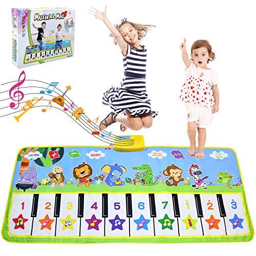 LEADSTAR Tappeto Musicale Bambini, Giochi Bambini 1 Anno, 135x59cm Grande Pianola Bambini, Pianoforte Bambino Educativo Giocattolo, Regolabile Tappetino per Tappeti da Ballo Touch Play Piano Playmat