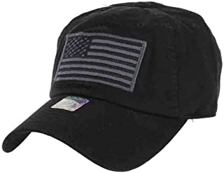 US Flag Patch Tactical Style Cotton Trucker Baseball Cap Hat Army Green