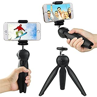 OAHU® Mini Tripod Universal Model 228 for Digital Camera & All Mobile Phones- Black